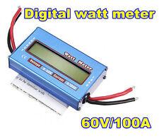 New 60V/100A DC Power Analyzer Watt Meter Solar Voltage Digital Battery Monitor