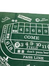 Vintage RENO Casino Reversible Craps Blackjack Table Felt 3' x 6' Gambling Party
