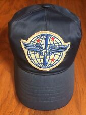 NWT POLO RALPH LAUREN RRL PILOT BLUE 6 PANEL GLOBE 3 STAR WING PATCH MEDIUM HAT
