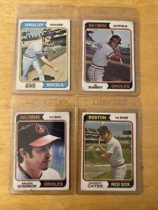 1974 Topps Baseball   - 4 Card Lot