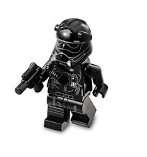 LEGO STAR WARS MINIFIGURA FIRST ORDER Corbata PILOTO BLANCO RAYAS CON BLASTER