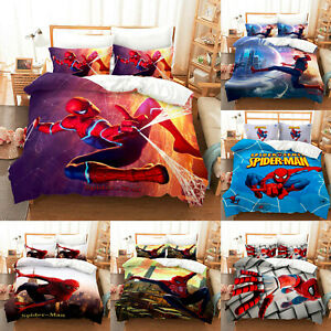 Marvel Spider Man Duvet Cover with Pillowcases Bedding Set Single Double King
