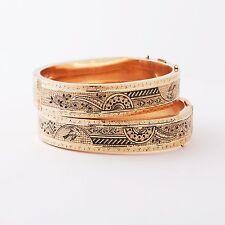 Antique Victorian pair of 10K Bracelets, Late 1800's