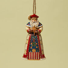 Jim Shore Heartwood Creek Christmas Polish Santa Hanging Ornament 4022945 NEW
