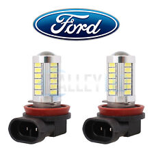 FORD Bright LED Front Fog Light H11 31w 33 SMD lens White Bulbs - WHITE