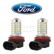 Brillante LED Luz Antiniebla Delantera De Ford H11 Lente 31w 33 SMD Bombillas Blanco-Blanco