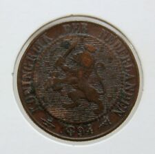 NETHERLANDS HOLLAND 2 1/2 CENT 1894 COOPER COIN