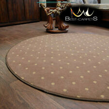 MODERN & CHEAP & QUALITY CARPETS Round Feltback CHIC brown Bedroom RUG ANY SIZE