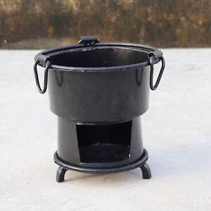 Iron Wood Coal Burning Kitchen Use Stove Sigri Fire Pit Portable