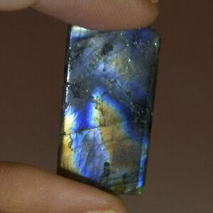Natural Multi Color Labradorite 31.00 Ct. Emerald Cabochon Loose Gemstone DG-414