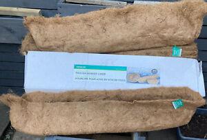 Trough Basket Coconut Fiber Planter Inserts Liner For Garden Planter/ Trough New