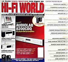 Hi-Fi World Meridian sooloos 15 Cambridge NP30 AUDIOLAB 8200CDQ ORIGIN LIVE Onyx