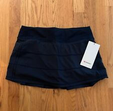 """NWT Lululemon Pace Rival Mid Rise Skirt 13"""" size 6,8 True Navy TRNV"""