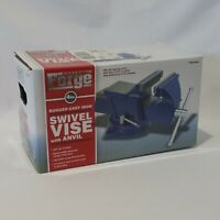"""Central Forge 4"""" Swivel Vise with Anvil ~ BRAND NEW"""