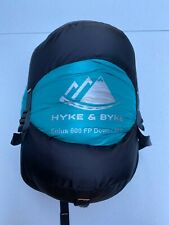 Hyke & Byke Eolus 15°F Ultralight Backpacking Down Sleeping Bag - Mint/Orange