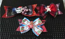 Xmas hair bows with slide on back set of 3 lovely xmas party gift