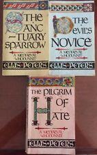 3 Books - A Mediaeval Whodunnit- Ellis Peters. The Devil's Novice, The Pilgrim..