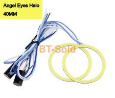40MM Amber COB Angel Eyes Halo Car LED Light Ring DRL Halo Headlight Lamp 1 pair