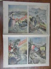 LE PETIT JOURNAL 1894 AFFICHES CHEMINS DE FER ALGERIE MONT CERVIN GENEVE