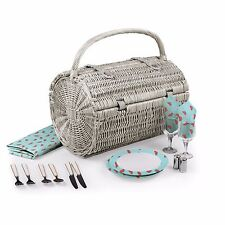 Picnic Time Handcrafted BARREL Picnic Basket Watermelon Service For Two
