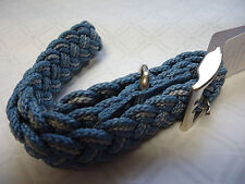 """Kiss My Mutt Braided Collar Blue Stone XL Up to 22"""""""