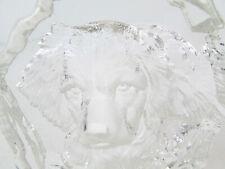 "Glass Iceberg Paperweight 3D Spaniel ? Dog 6"" Tall"