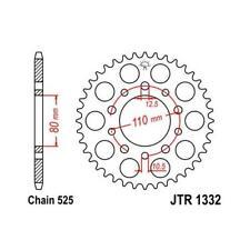 JT 525 40T Rear Sprocket for 91-03 CB750 Nighthawk 94-07 VT600 C CD JTR1332.40