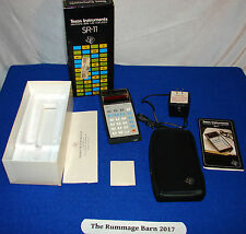 vintage Texas Instruments SR-11 Slide Rule CALULATOR - BOXED Complete -- parts ?