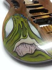 Replacement Guitar Body for your Ibanez Jem - AANJ- Original Art - Walnut Body