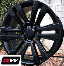 20 inch RW 2017 2018 Denali Wheels for Chevy Tahoe Satin Black Rims 6x139.7 Set