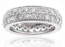 4.00 Ct. TW Round Pave Diamond Eternity Wedding Band Platinum