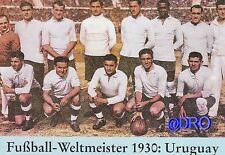 Weltmeister 1930 - Offizielle Siegerpostkarte + Uruguay
