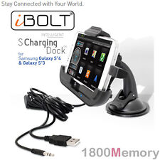 iBolt S Charging Dock Kit Window Dash Mount Cradle for Samsung Galaxy S4 S3