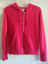 AUTH FOREVER 21 100% COTTON LONG SLEEVE HOODED SWEATER PREOWNED FUCHSIA SZ S