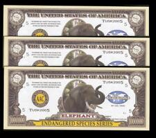 LOT of 3 ~ ELEPHANT Fantasy Notes ~ Endangered Species Series ~ Popular Series