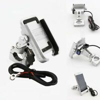 Motorcycle Aluminum Phone Holder USB Charger For Harley Davidson CVO Road Glide