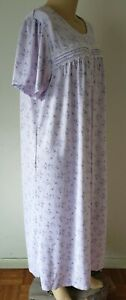 NWT Croft & Barrow Womens Nightgown S/S Knit Polyester Blend Purple Floral