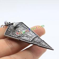 Guerre Stellari Spaceship Imperial Star Destroyer di 3D Silver Metal portachiavi
