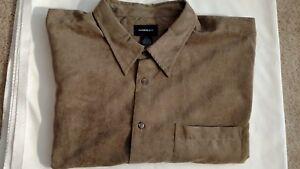 HARBOR BAY MEN'S BIG & TALL LONG SLEEVE CASUAL DRESS SHIRT - SIZE 3XL