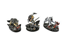 SPACE WOLVES Leman russ primarch & his wolves wolf kin Forge world PRO PAINTED
