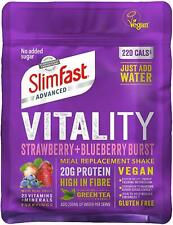 SlimFast Vitality Vegan Protein Meal Replacement Strawberry And Blueberry Powder