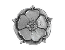 6 Tudor Rose 7/8 inch ( 22 mm ) Pewter Metal Buttons Antique Silver Color