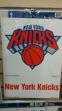 "NEW YORK KNICKS 2 PIECE MULTI-USE DECAL SHEET 11""X17"" PERFECT FOR WINDOWS"
