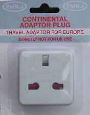 10 x Travel plug adaptor 3 to 2 pin UK to Europe