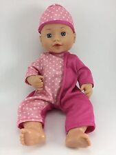 Citytoy Baby Doll 1998 With Pink Pajamas And Hat Adjustable Arms Legs And Head