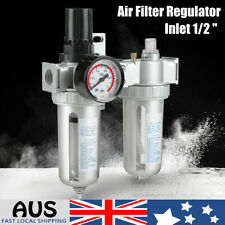 "1/2"" Compressed Air Pressure Regulator Moisture Trap Water Filter Aluminum Alloy"
