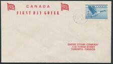 1952 #320 7c Canada Goose FDC, Empire Stamp Co Cachet, Toronto