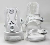 Men's ALTITUDE 4X4 Burton Mounting 3D EST Snowboard Bindings White L/XL 8.5-13