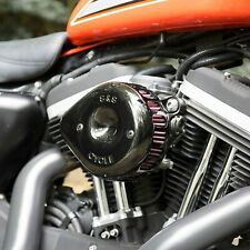 S&S Gloss Black Mini Teardrop Stealth Air Cleaner Kit For HD Sportster 1991-2006