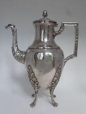 Cafetière ancienne en métal argenté style Empire